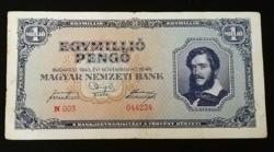1945  EGYMILLIÓ PENGŐ SZÉP ÁLLAPOTÚ
