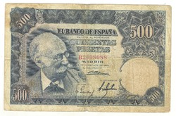 500 peseta 1951 Spanyolország