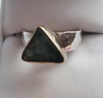 Izraeli ezüst gyűrű,2000 éves Római Üveg, EGYEDI
