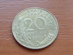 FRANCIA 20 CENTIMES 1982