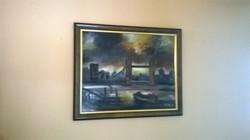 """""""KINVA""""Várdombi Nagy Krisztián.Tower Bridge című olajfestménye."""