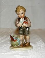 Ritka fagyizó gyerek  Bertram porcelán figura