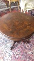 XVI.Lajos 65x55cm eredeti intarziás póklábú kis asztal
