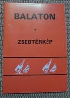 Balaton zsebtérkép, 1987-1988 (magyar térkép)