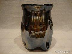 Tömzsi vastag üveg váza