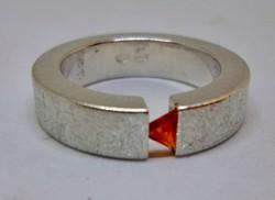 Szép régi art deco köves  ezüst gyűrű