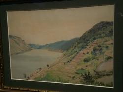 Olvashatatlan jelzés: Folyóparti táj / Spitz an der Donau (20.sz.első fele)