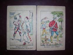Hol a...? Nagyon régi rejtett képes grafikák 2 db kb. 1900-1910-ből