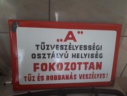 Régi Zománc Tábla  2.