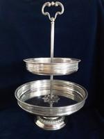 Gyönyörű ezüst nagy méretű kínáló 929 g