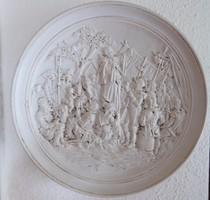 Fali tányér relief dombormű Wallenstein