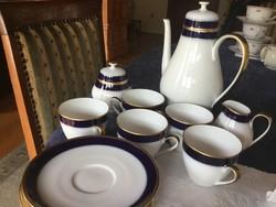 Hutschenreuth kobalt hosszú kávés 5 személyes