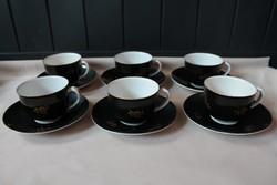 Hollóházi hat darabos teáskészlet