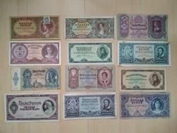 Pengő bankjegy válogatás 2