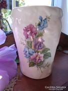 Antik fajansz  váza, tároló.