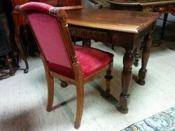 Antik íróasztal + szék