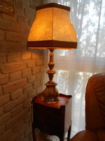 Antik olasz faragott, laparanyozott állólámpa lámpa