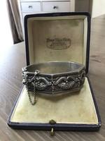 Antik Art Deco ezüst karkötő DAVID jelzéssel 835-ös