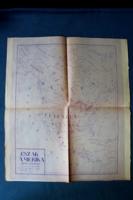 1954-es térkép Amerikáról, Amerikai Egyesült Államok, magyar nyelvű
