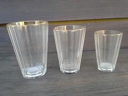 Különleges ezüst érmés biedermeier poharak