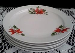 Zsolnay Mikulásvirág mintás tányér