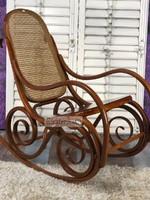 Antik bútor, régi Felújított Thonet hintaszék