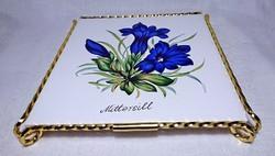 Villeroy & Boch MITTERSIL feliratú újszerű dobozában edény alátét.arany festett csavart állványon.