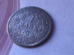 1876 ezüst 1 márka 5,5 gramm 0,900