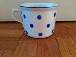 Régi Zsolnay NAGY pöttyös csupor bögre régi csésze