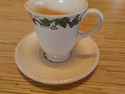 Angol Wedgwoodi porcelán kávés csésze kistányéral
