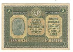 2 lira 1918 Olaszország