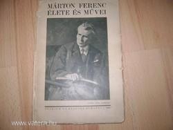 Antik könyv - Márton Ferenc Élete és Művei