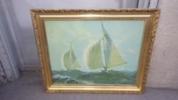 Arany-fa képkeret vászon nyomattal , falc 45x57 cm
