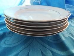 KAHLA aranyszegélyes fehérmázas mélytányér set - tányérkészlet
