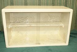 Retro fali vitrines, polcos szekrényke