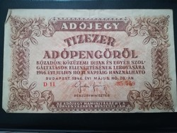 1946-os 10000 Adópengő
