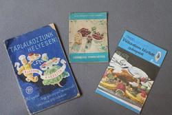 Három retro füzet receptekkel, szakács ötletekkel