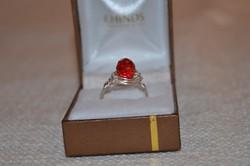 Ezüstözött drót gyűrű 03