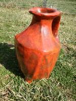 Régi különleges formájú és három lábú  nagy 41cm-es Gorka (?) váza