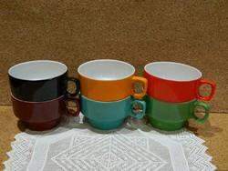 Hollóházi art deco 6 személyes teás készlet.
