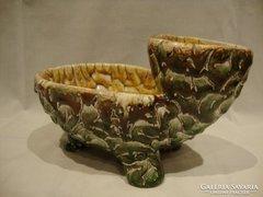 Gál retro iparművész kerámia teknős váza