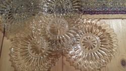 6 db üveg sutemenyes tányérok