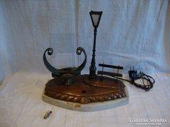Antik házassági ajándék fényképtartós lámpa