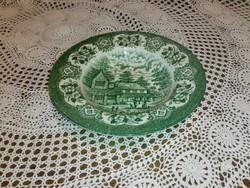 Staffordshire,angol porcelán jelenetes mély tányér.