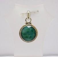 Ezüst medál smaragd kővel (ZAL-Ag77529)
