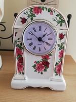 Porcelán rózsás óra