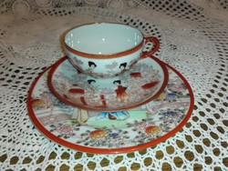 Tojàshéj porcelán teázó szett,Japán, kézzel festett.
