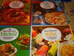 4 szakácskönyv egyben Négy évszak ételei:Tavasz, Nyár, Ősz, Tél (700 Ft/db)