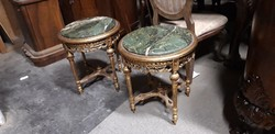 Barokk dohanyzoasztal szalonasztal posztamens