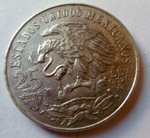 Ezüst 25 Peso Mexikó 1968 Olimpia